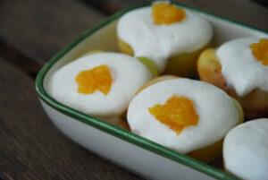 Albaricoques con crema de yogur