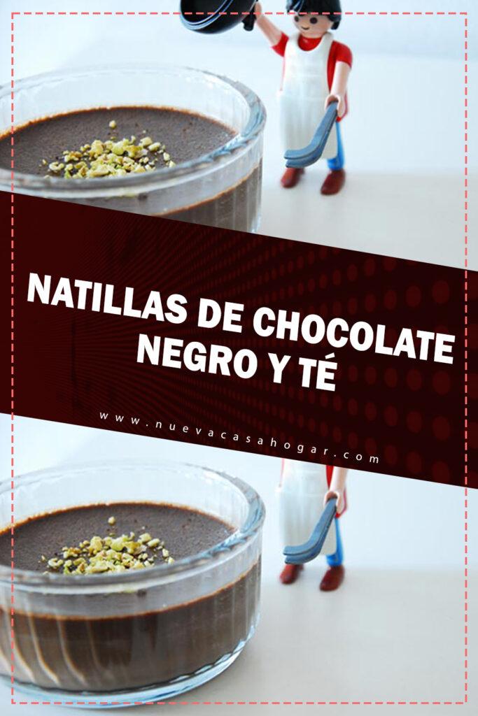 Natillas de chocolate negro
