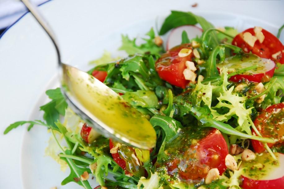 Ensalada verde con vinagreta